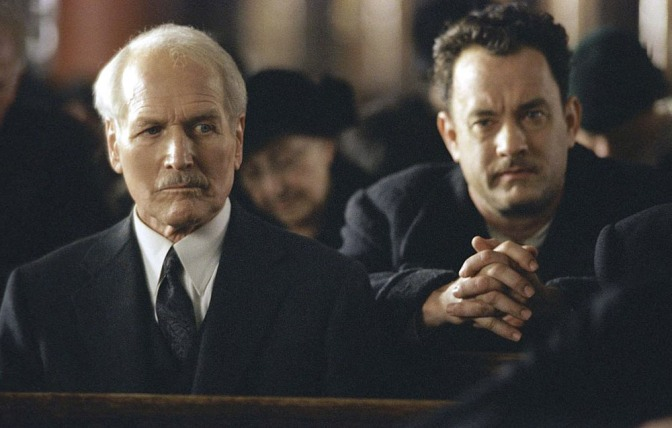 Paul Newman and Tom Hanks in Road to Perdition