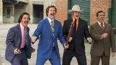 Paul Rudd, Will Ferrell, David Koechner, and Steve Carrell in Anchorman