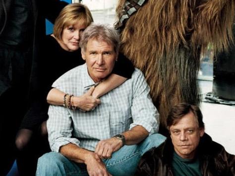 Leia, Han and Luke