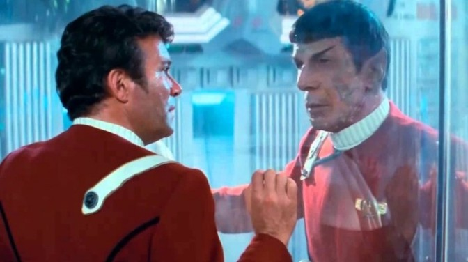 William Shatner and Leonard Nimoy in Star Trek II