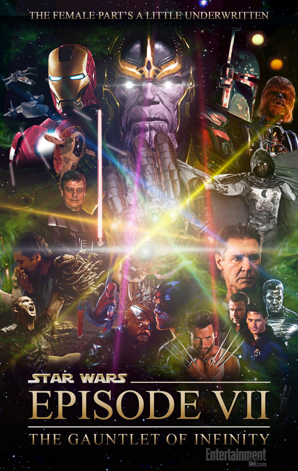 Star Wars Episode VII, Infinity Gauntlet, Thanos, Episode VII, Patton Oswalt