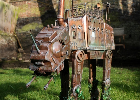 Star Wars, AT-AT, Imperial Walker, Steampunk