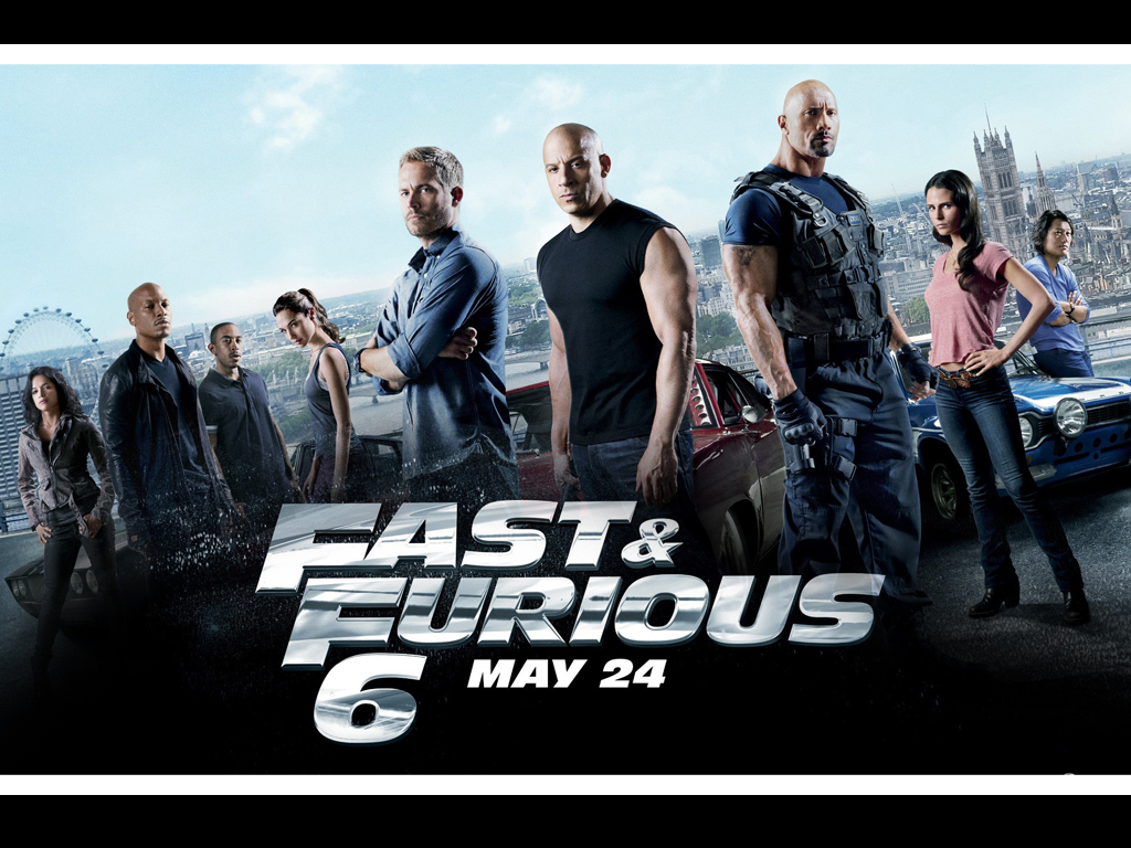 Fast 6, The Fast and the Furious 6, Vin Diesel, Paul Walker, Dwayne Johnson, The Rock, Ludacris, Tyrese Gibson, Michelle Rodriguez