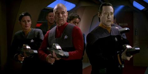 Star Trek First Contact, Picard, Data, Patrick Stewart, Brent Spiner