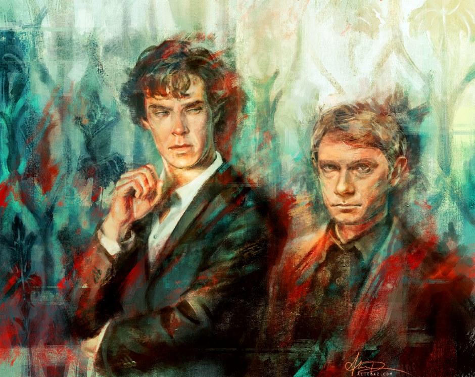 Sherlock, Sherlock Holmes, Dr Watson, Benedict Cumberbatch, Martin Freeman, Alice X