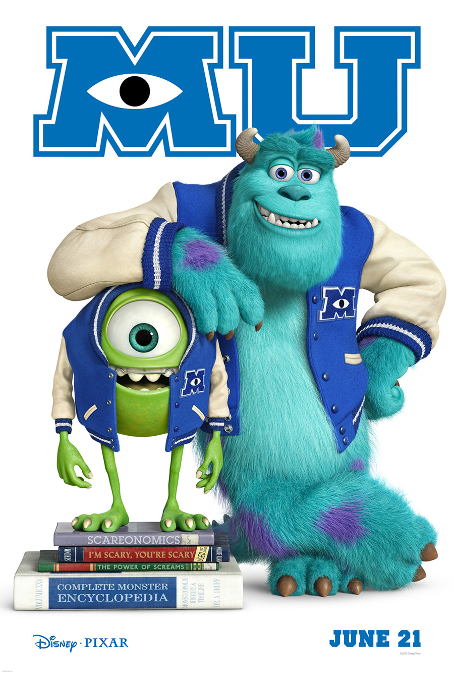Monsters University, Sully, Mike, Pixar, Disney