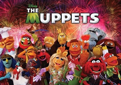 Muppets, Disney, Kermit, Fozzie, Miss Piggy, Gonzo