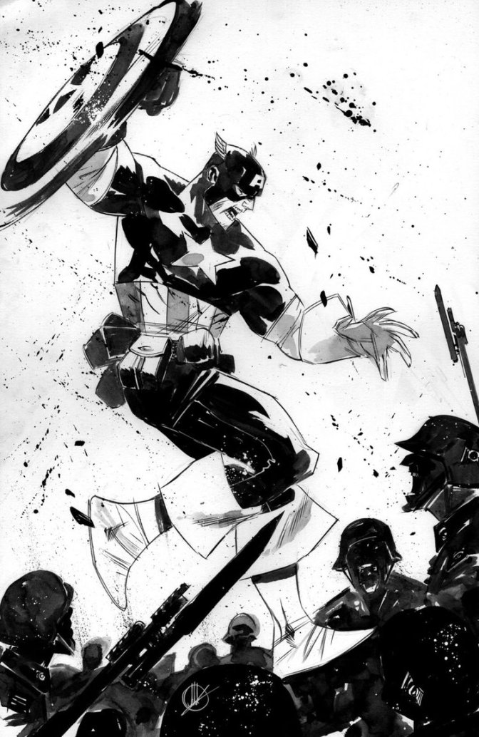 Fantastic Black & White Super Hero Sketches from Matteo Scalera