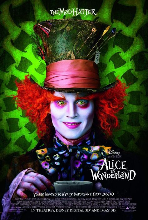Johnny Depp, Alice in Wonderland, Mad Hatter