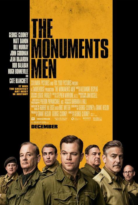 The Monuments Men, Matt Damon, George Clooney, John Goodman, Bill Murray