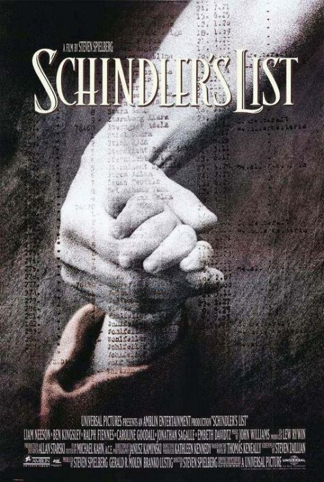 Schindler's List, Steven Spielberg, Liam Neeson, Ralph Fiennes, Ben Kingsley