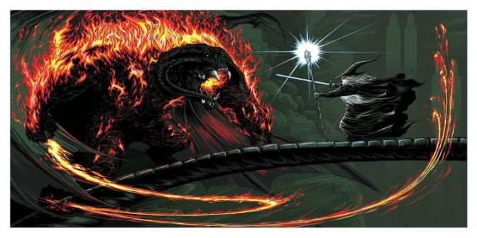 Gandalf vs. Balrog Art (YOU SHALL NOT PASS!)