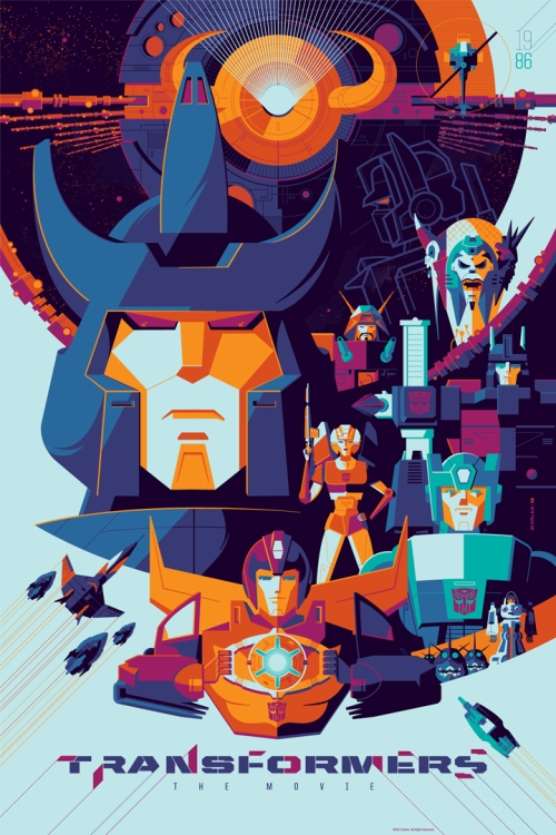 Transformers the Animated Movie Variant Poster