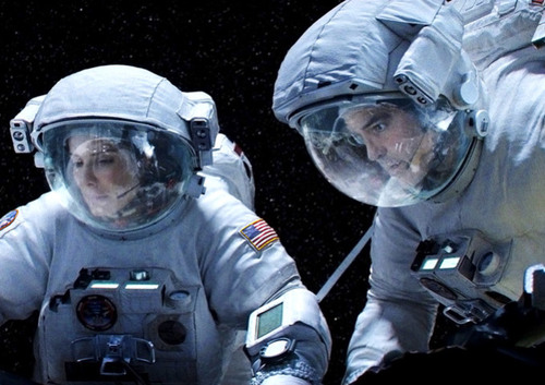 Sandra Bullock and George Clooney in Gravity
