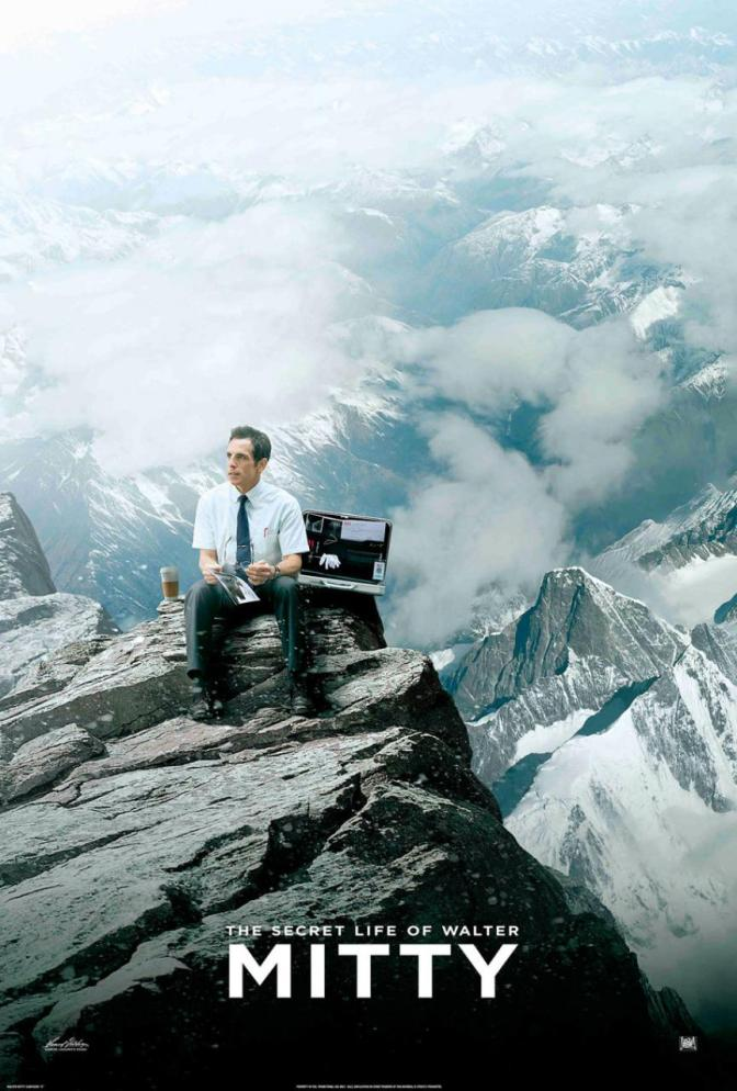 A Third New Poster for The Secret Life of Walter Mitty (On Top of the World)