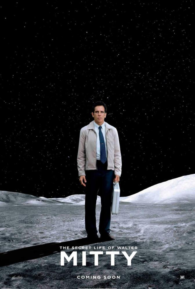 A Fourth (yes, a fourth) New Poster for The Secret Life of Walter Mitty (The Man in the Moon)