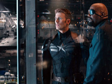 Cap 2, Captain America, Captain America The Winter Soldier, Chris Evans, Nick Fury, Samuel L. Jackson