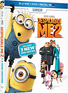 Despicable Me 2, Minions, Gru, Despicable Me 2 Blu Ray