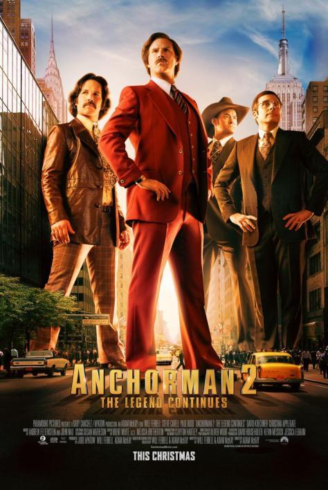 Anchorman 2, Will Ferrell, Paul Rudd, David Koechner, Steve Carrell