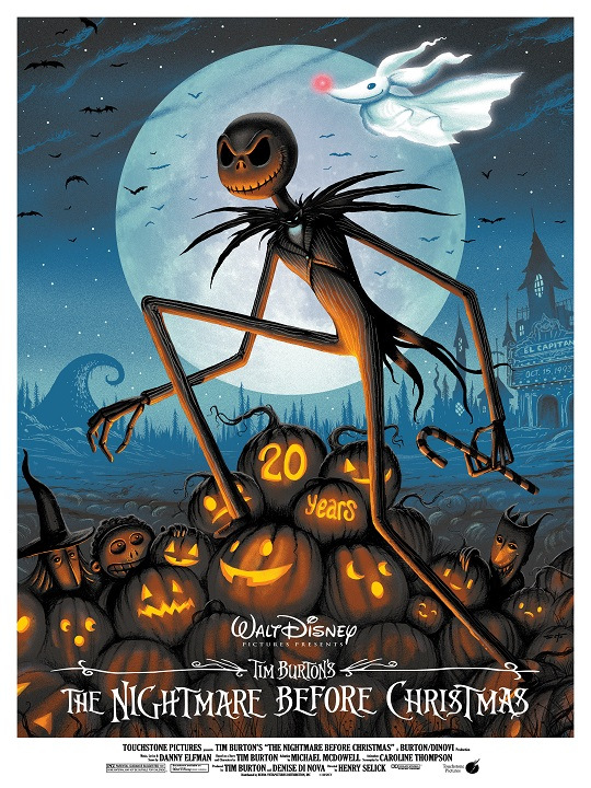 Disney Commissions 20th Anniversary Nightmare Before Christmas Posters