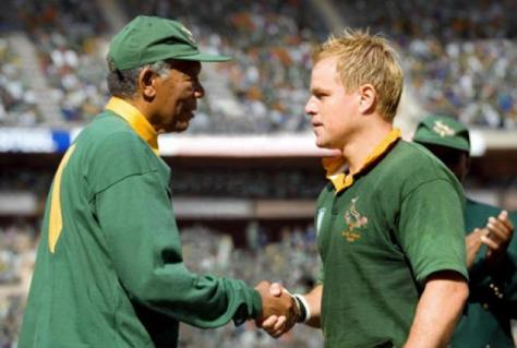 Morgan Freeman, Nelson Mandela, Matt Damon, Invictus