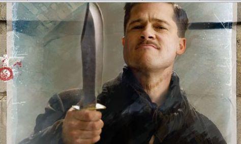 Aldo Raines, Inglorious Basterds, Brad Pitt
