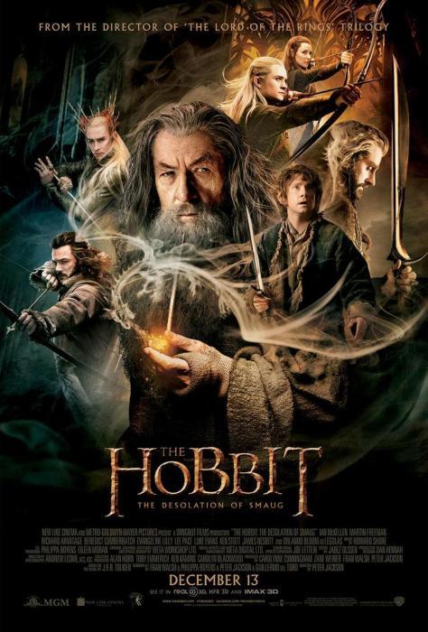 The Hobbit The Desolation of Smaug, Final Poster, Gandalf, Thorin, Bilbo, Thranduil, Legolas, Bard the Bowman, Tauriel, Smaug