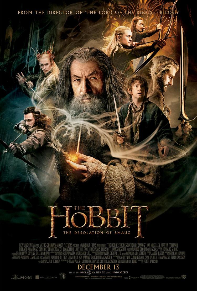 The Hobbit The Desolation of Smaug, Final Poster, Gandalf, Thorin, Bilbo, Thranduil, Legolas, Bard the Bowman, Tauriel, Smaug