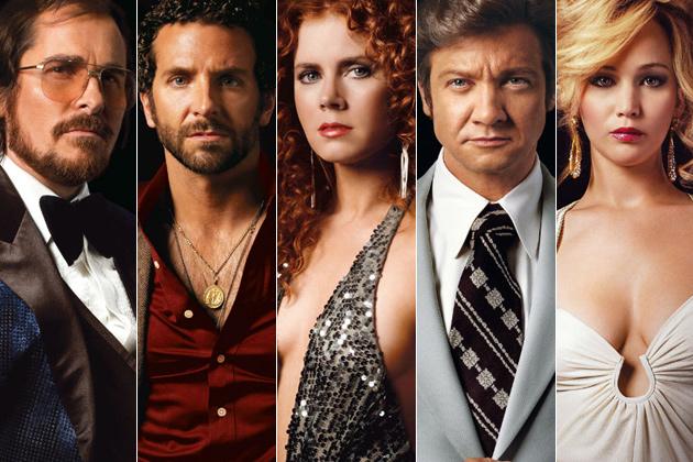 American Hustle, Christian Bale, Amy Adams, Jennifer Lawrence, Jeremy Renner, Bradley Cooper