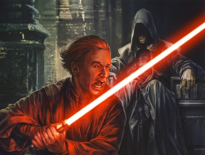 Darth Plagueis Trains Young Palpatine!  Incredible Star Wars Art by Chris Trevas!