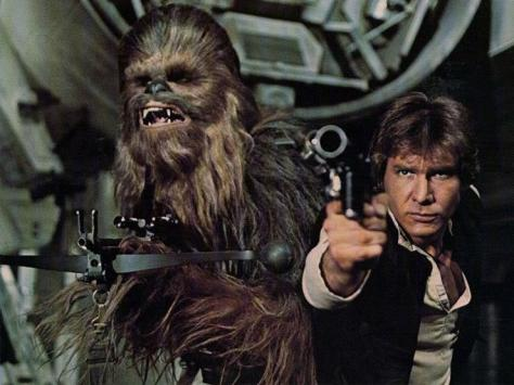 Han Solo, Harrison Ford, A New Hope, Star Wars, Chewbacca
