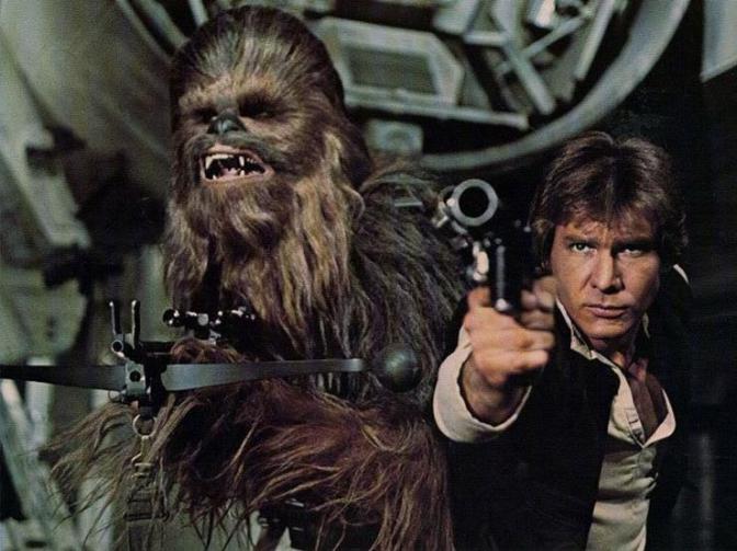 Han Solo, Harrison Ford, A New Hope, Star Wars, Chewbacca