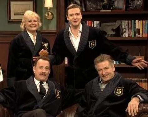 Tom hanks, Alec Baldwin, Justin Timberlake, Saturday Night Live