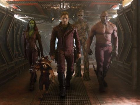 Guardians of the Galaxy, Gamora, Groot, Drax, Rocket Raccoon, Star Lord, Chris Pratt, Zoe Saldana, Vin Diesel, Bradley Cooper