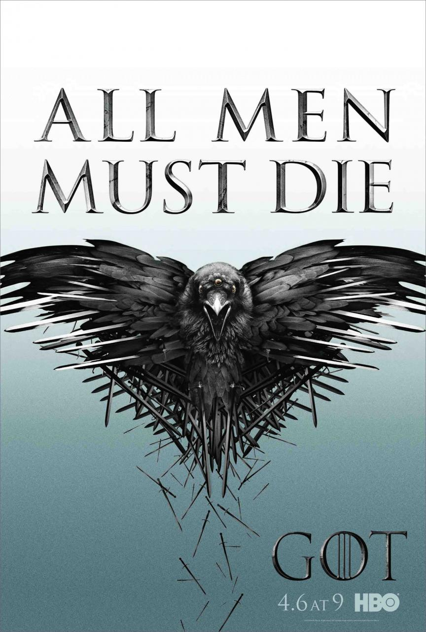Game of Thrones, Game of Thrones Season 4, Valar Morghulis, All men Must die