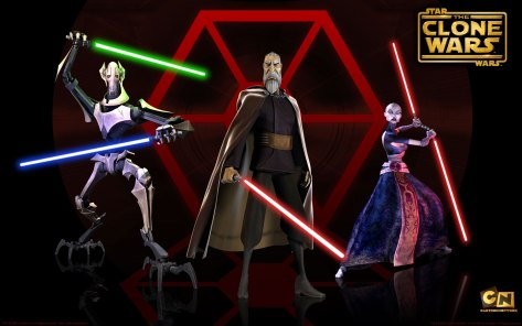 General Grevious, Count Dooku, Asajj Ventress, Star Wars Clone Wars