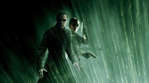 The Matrix, Trinity, Neo, Carrie Ann Moss, Keanu Reeves