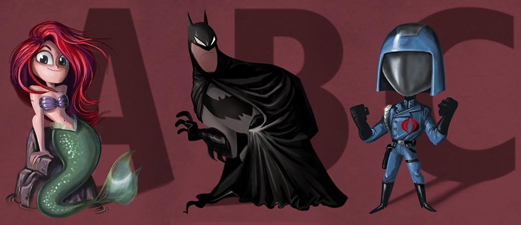 Ariel, Batman, Cobra Commander,