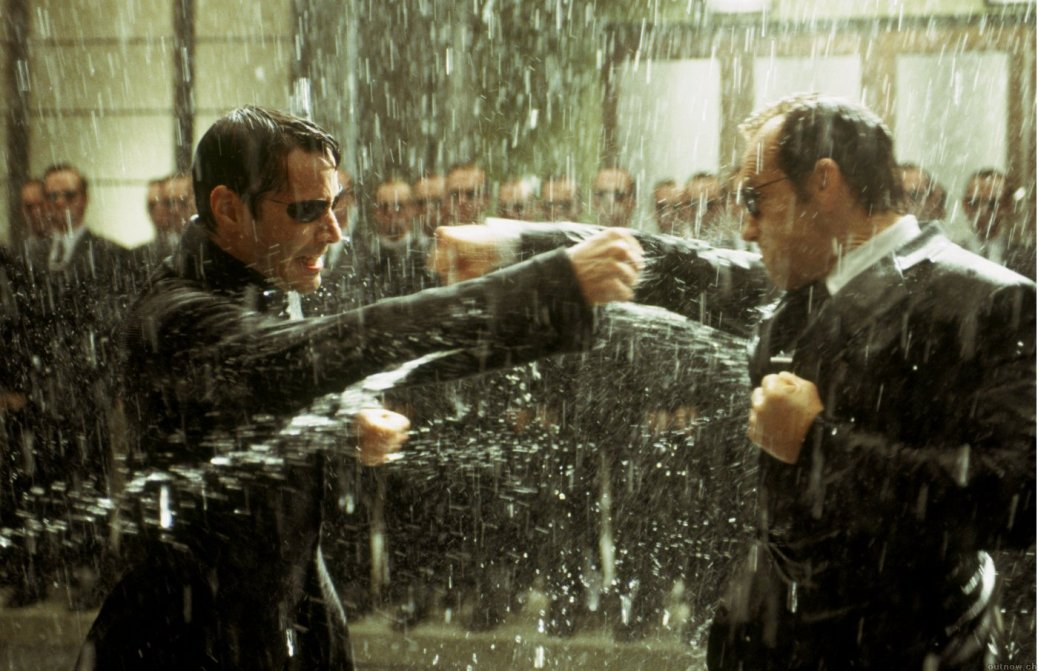 Neo, Agent Smith, Hugo Weaving, Keanu Reeves, The Matrix Revolutions