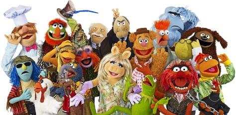 Muppets, Kermit, Miss Piggy, Fozzie, Gonzo,