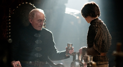Charles Dance, Maisie Williams, Tywin Lannister, Maisie Williams, Game of Thrones