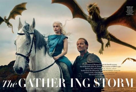 Jorah Mormont, Danerys Targaryen, Dragons, Emilia Clarke