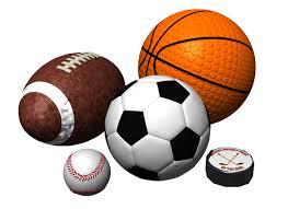 hockey, baseball, basketball, football, soccer