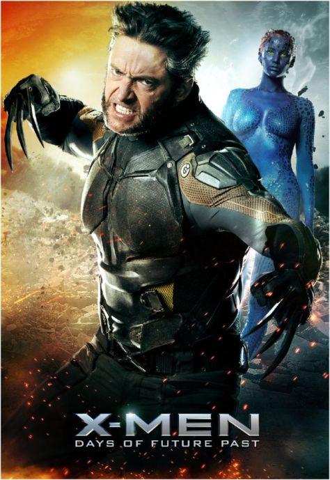 X-Men Days of future Past, Mystique, Jennifer Lawrence, Wolverine, Hugh Jackman