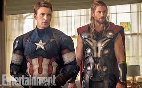 Captain America, Thor, Chris Hemsworth, Chris Evans, Avengers Age of Ultron