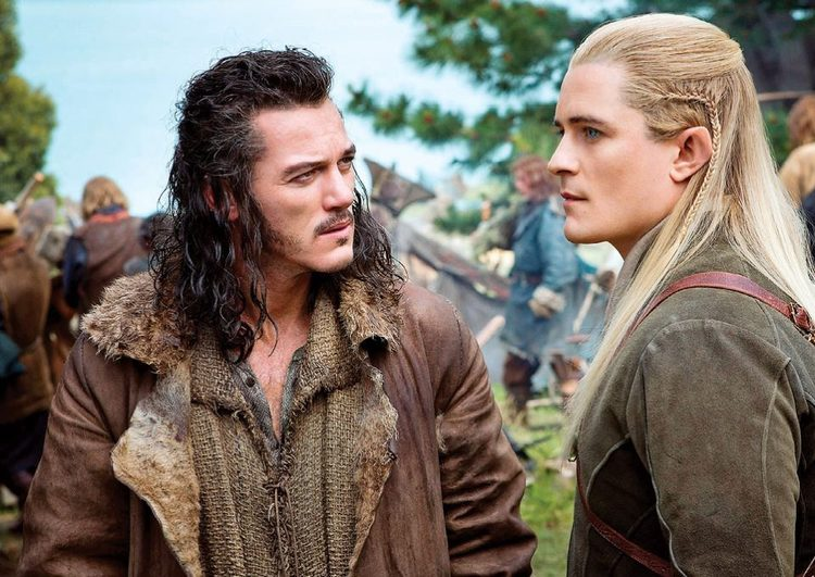 Luke Evans, Orlando Bloom, The Hobbit The Battle of the Five Armies, Bard the Bowman, Legolas