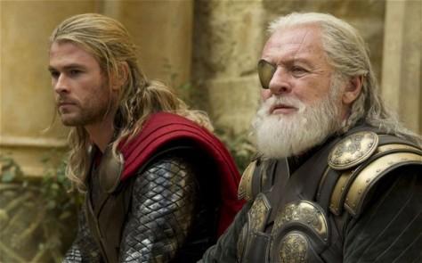 Thor, Odin, Chris Hemsworth, Anthony Hopkins, Thor The Dark World