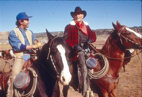 "Billy Crystal and Jack Palance in ""City Slickers.""Photo by Bruce McBroom"