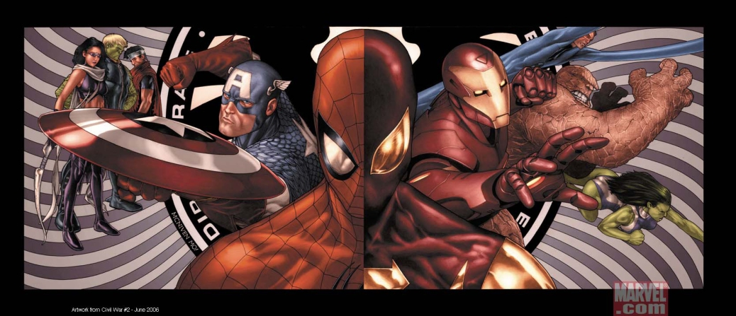 Spider-Man, Captain America, Iron Man, Civil War, Marvel Comics