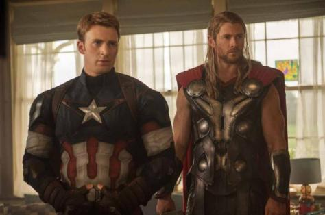 Captain America, Thor, Avengers: Age of Ultron, Chris Evans, Chris Hemsworth